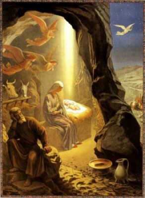 Польская открытка католического рождества bozego narodzenia