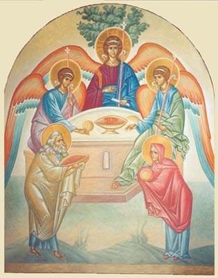 Троица. Икона Р.М.Гирвеля (СПб)