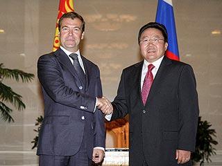 Дмитрий Медведев и Цахиагийн Элбэгдорж (Фото с сайта Президента России)