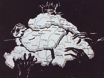 Карта *Великой Венгрии 69 жупаний*