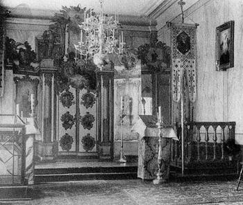 Фото иконостаса, установленного затем в Стокгольме. Фото 1889 г.