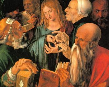 А.Дюрер. Христос среди книжников