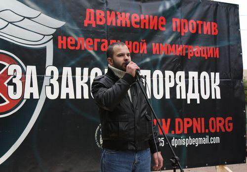 В Петербурге прошел митинг против нелегальной миграции