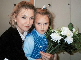 Наталья Захарова с дочерью