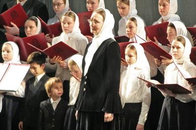 Детский хор собора Владимирской иконы Божией Матери под руководством И.В.Болдышевой