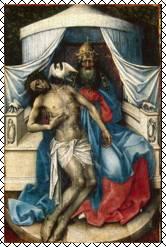 Робер Кампен. Троица. Створка диптиха. 1430-е гг. ГЭ