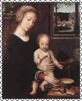 Д. Герард. Мадонна с кашей. 1515-1520 гг.