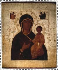 Смоленская икона Божией Матери. Одигитрия. Начало XVI в.