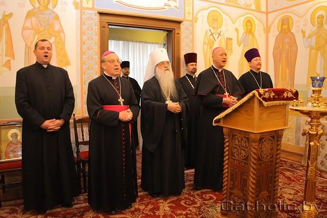 Католики в православном храме в Минске