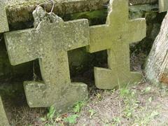 Два креста с братской могилы русских воинов