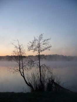 Восход на Короцком озере