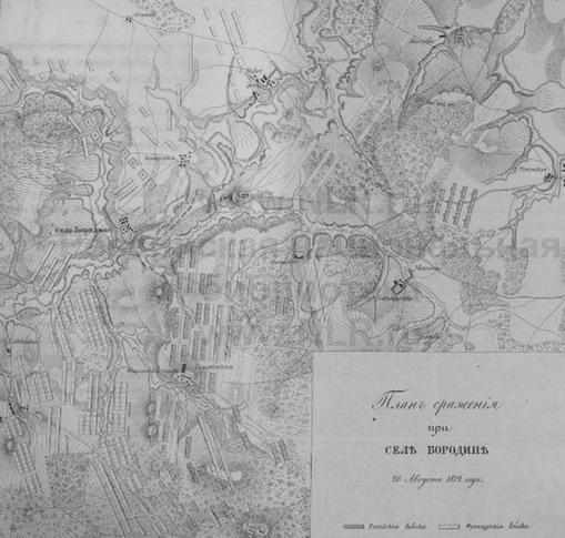 План сражения при Бородино