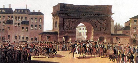 Русская армия входит в Париж в 1814 году
