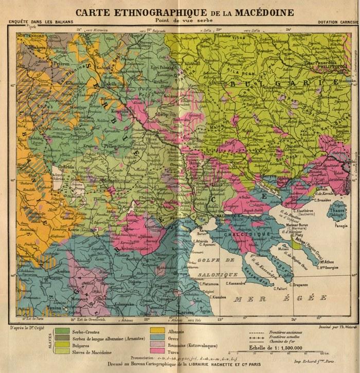 этнографическая карта Македонии. Сербский взгляд