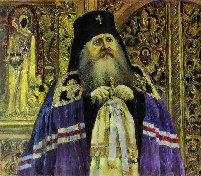 Архиепископ Антоний в 1917 году. Художник М. В. Нестеров