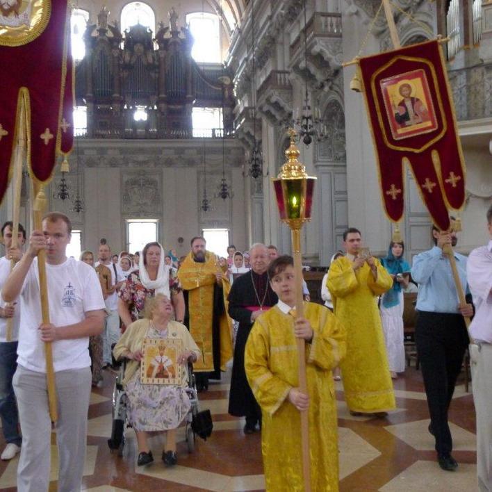 Молебен в католическом соборе