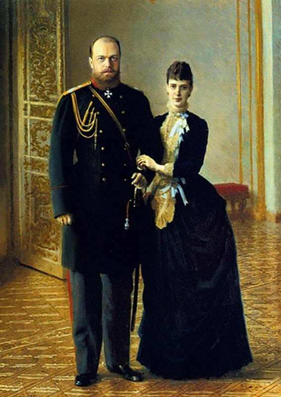 Император Александр III с Императрицей Марией Федоровной