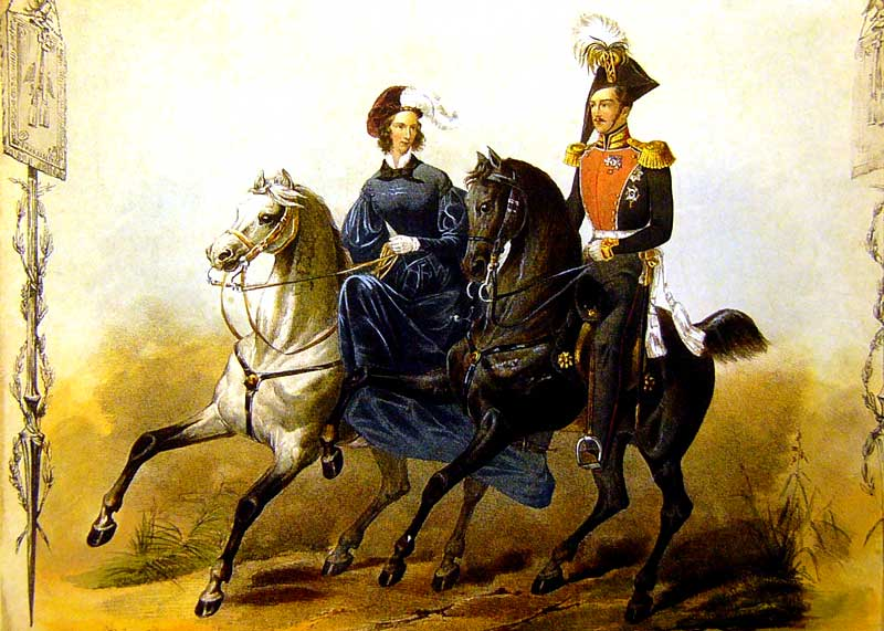 Император Николай I и Императрица Александра Федоровна