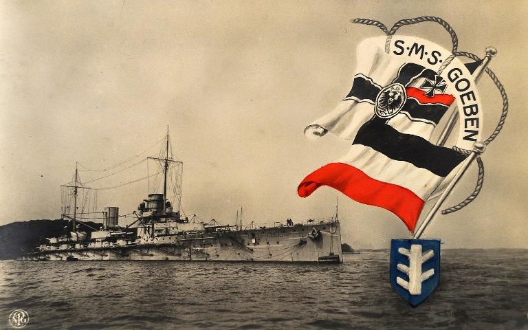 Немецкий крейсер *Гебен*
