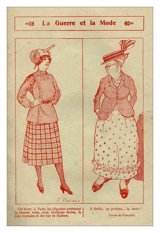 Французский модный журнал времен Первой мировой войны