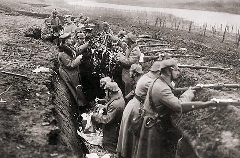 Немецкий окоп, Первая мировая война, Как русский солдат немцам свою винтовку за целый окоп продал