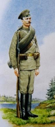 Русский солдат 1914 года