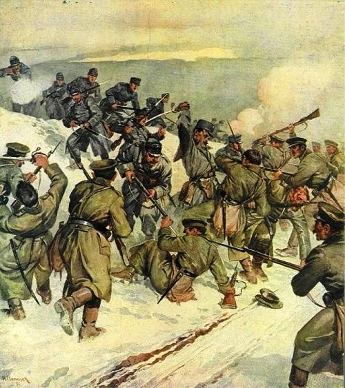Бой с австрийцами, Первая мировая война