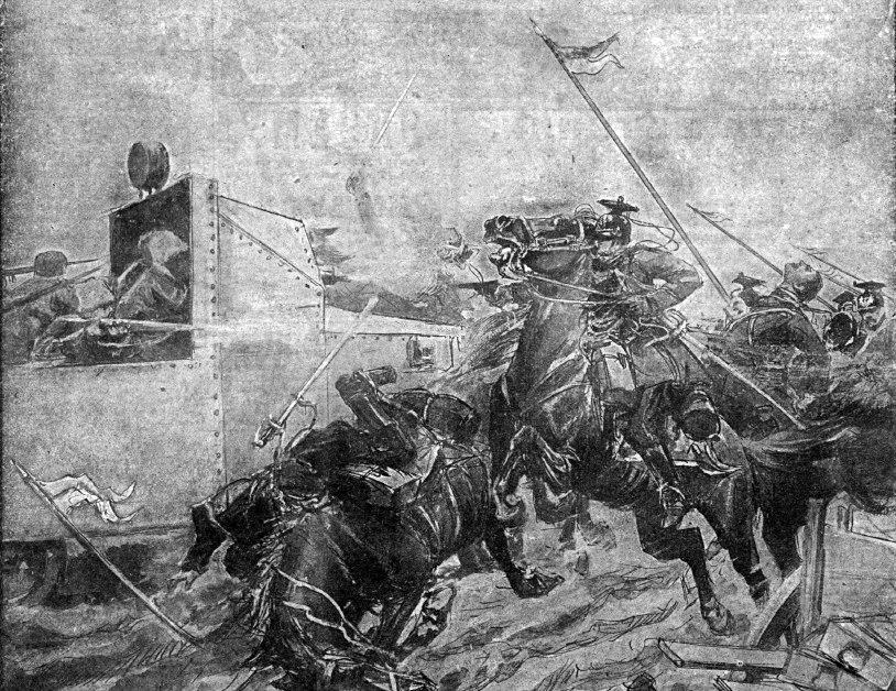 Русский броневик в бою