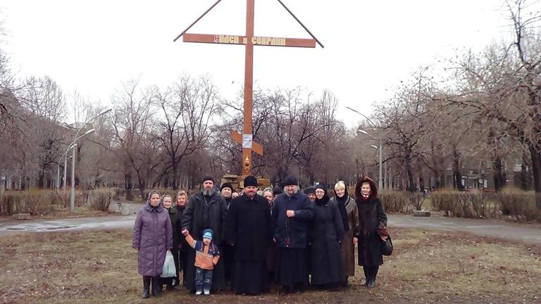 После молебна Кресту в г. Алчевске