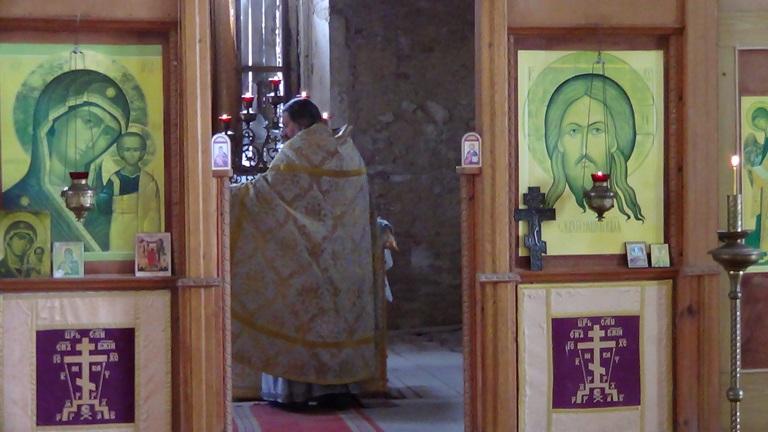В церкви с. Россыпное