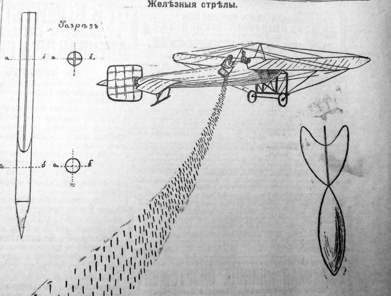 Флешетты, рисунок *Вечернего времени*, 1915 год