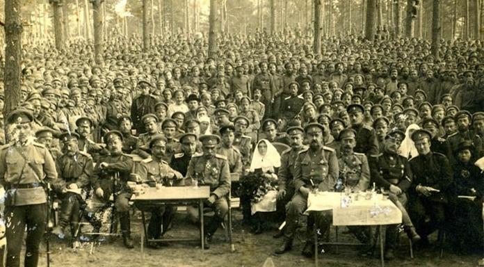 Праздник Георгиевских кавалеров на фронте