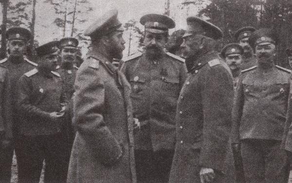 Н.В.Рузский и Император Николай II