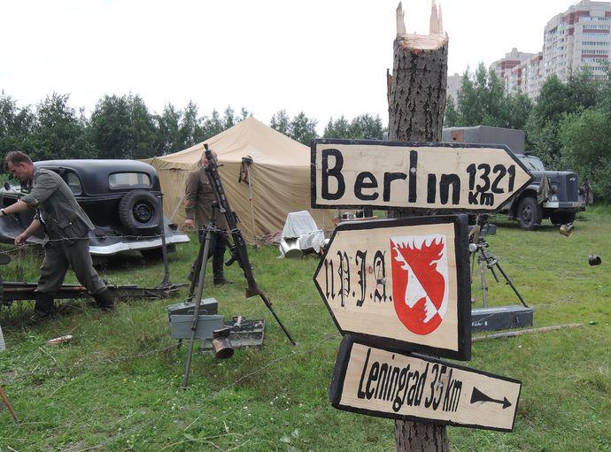 Реконструкция одного из боев начала Великой Отечественной войны