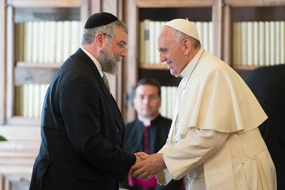 Встреча папы Франциска с раввинами